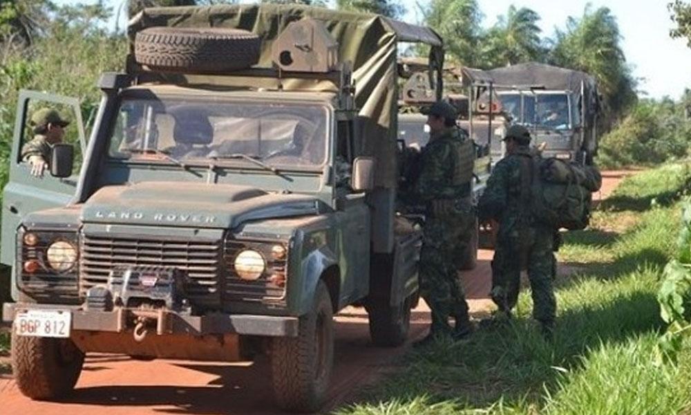 Los controles militares se reforzaron en la zona de Arroyito tras el ataque a los efectivos de la FTC. //paraguay.com