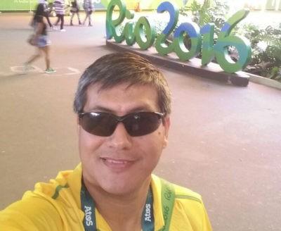 Christian Noguera en otra pose durante los Juegos Olímpico. //Gentileza
