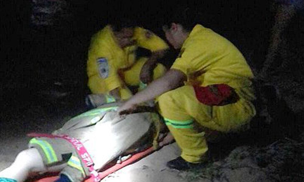 Luego de más de seis horas de haber ocurrido el hecho, el rescate se dio a las 03.30 de la madrugada de este jueves.