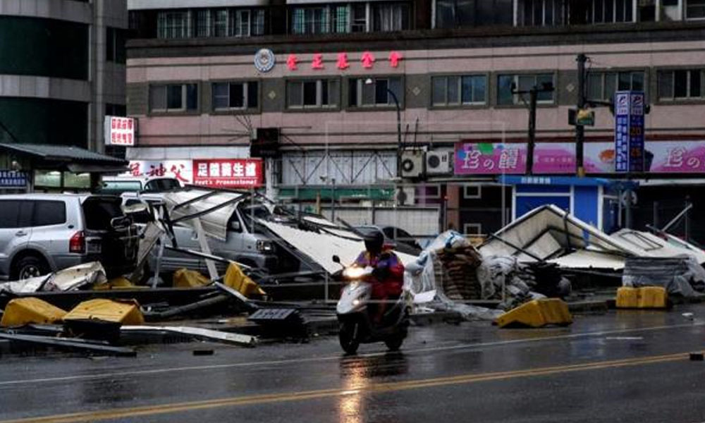 Supertifón Meranti causó destrozos en China. //EFE