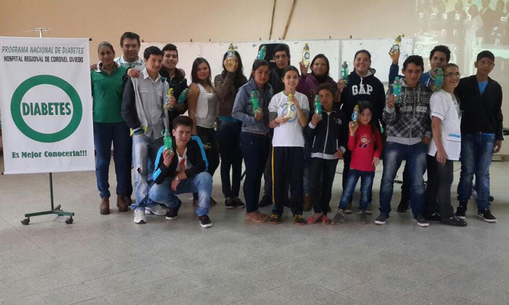 Jornada de actividades llavada a cabo en el salón de actos del Hospital Regional de Coronel Oviedo, en la que participaron niños y adolescentes diagnosticados con diabetes Tipo 1. //OviedoPress