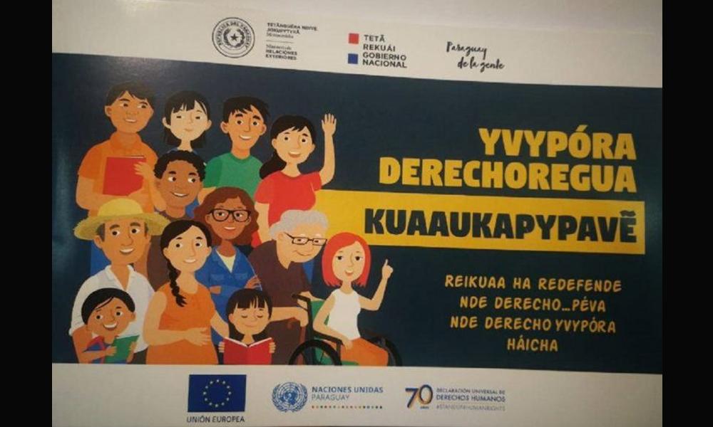 Presentan edición en español-guaraní de la Declaración de los Derechos Humanos