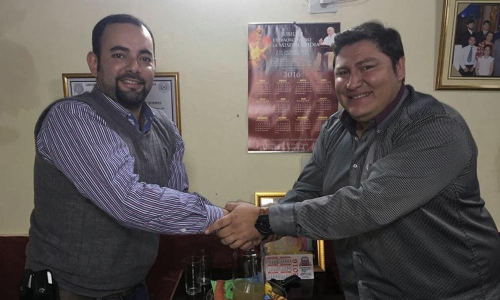 Eladio González junto a Cristian Echeverria // Archivo