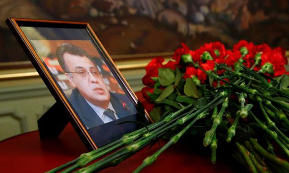 El embajador ruso recibió nueve impactos de bala.