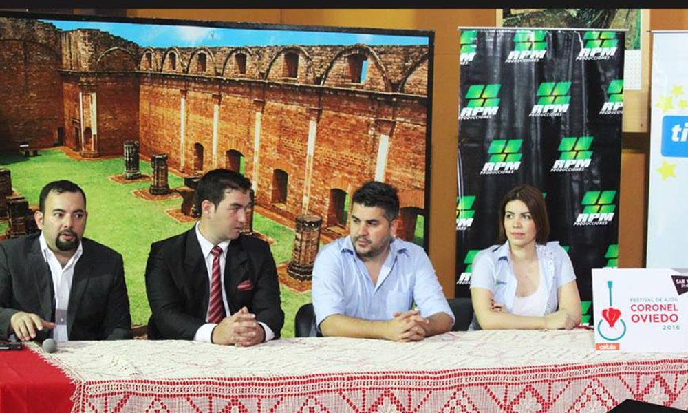 El lanzamiento oficial del Festival de Ajos se llevó acabo en el local de la Senatur. //Facebook - RPM Producciones