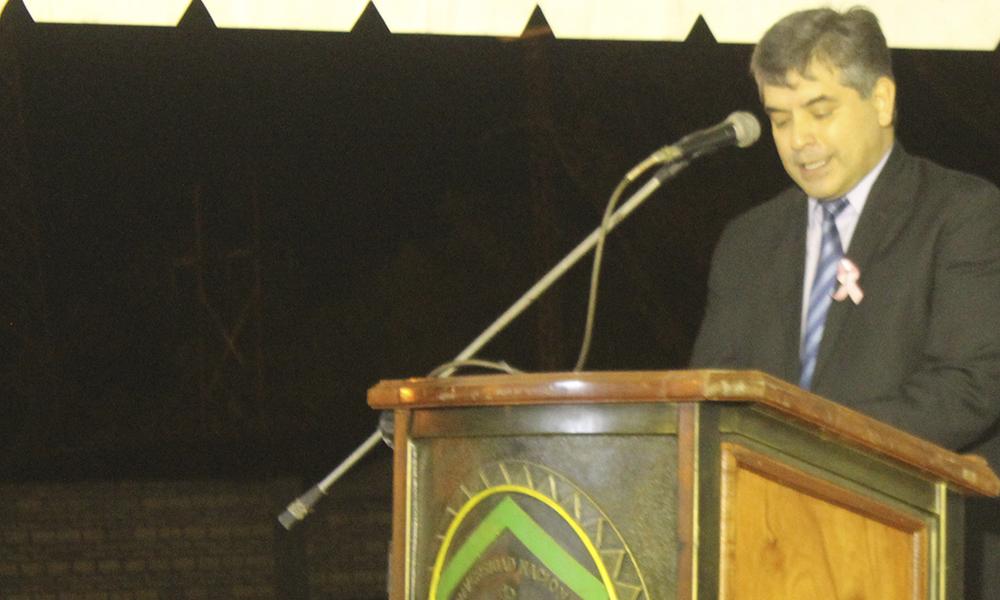 Hugo Giménez, rector de la Universidad Nacional de la UNCA // Néstor Castillo