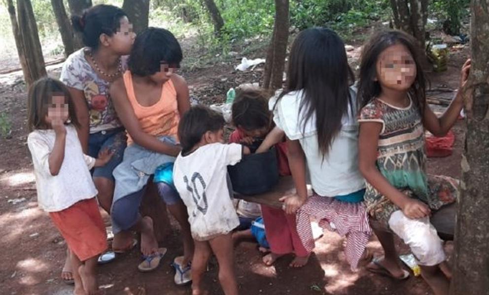 Ministerio de la Niñez halla en extrema pobreza la comunidad Cerrito, en Caazapá