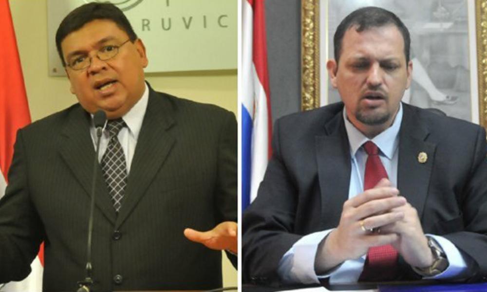 Francisco José De Vargas, ex ministro (der).   Luis Alberto Rojas Ramírez, ex ministro (izq). Foto://Ultimahora.com