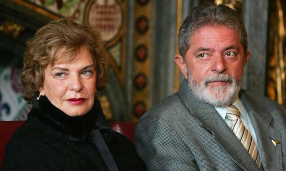 Marisa Letícia Rocco y Lula da Silva. Foto://infobae.com