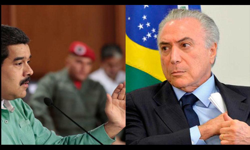 """Nicolás Maduro llama """"sicario"""" a su par brasileño, Michel Temer"""