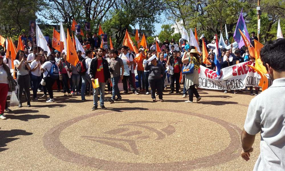 La marcha inició en la Plaza Italia. //Gentileza - Ana Navarro