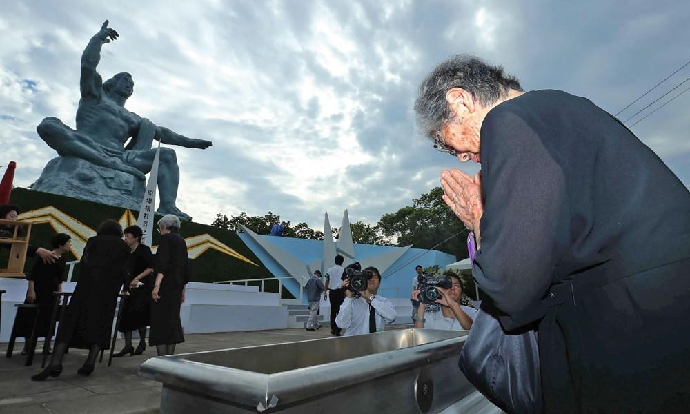 Japoneses conmemoran bombardeo atómico de Nagasaki hace 71 años. Foto: AFP