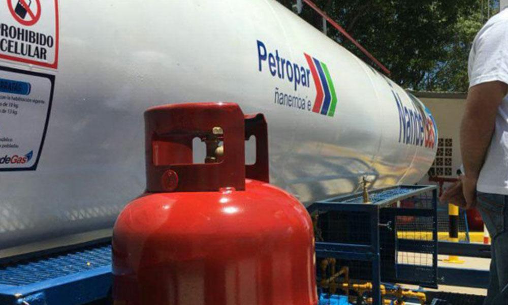 Petropar recarga las garrafas de 10 kilos por G. 50.000.