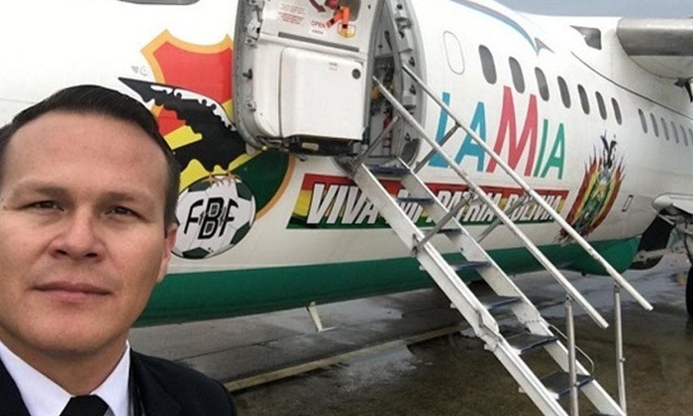 Miguel Quiroga, piloto del avión de Lamia. //Facebook - Gus Encina.