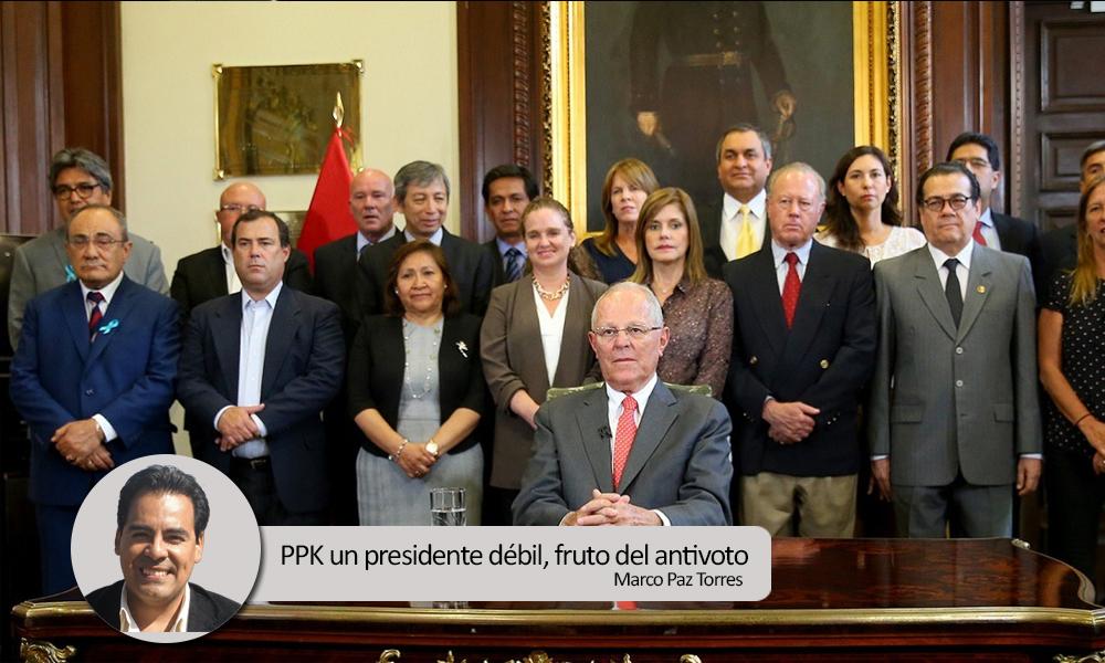 PPK un presidente débil, fruto del antivoto