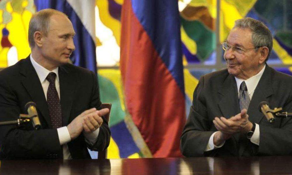 Vladimir Putín, presidente de Rusia y Raúl Castro, presidente de Cuba. //laprensa.hn