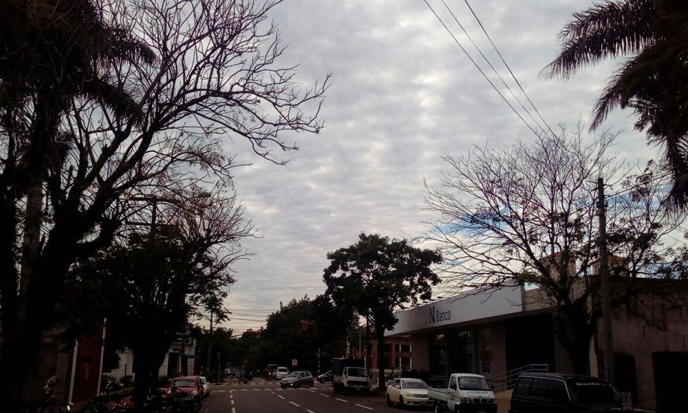 Sábado nublado y sin lluvias