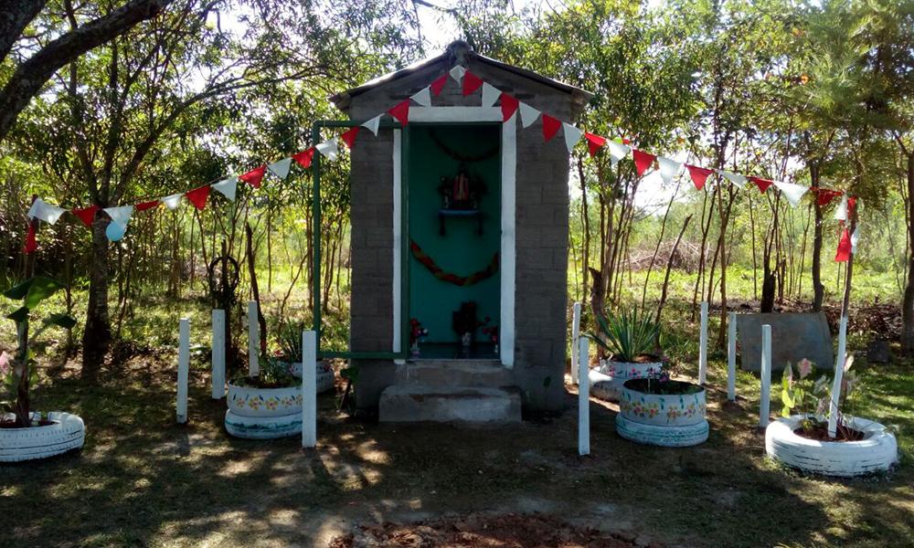 La construcción de la capilla San Blas ,fue gracias a la colaboración de todos los pobladores del territorio social. Foto://Gentileza