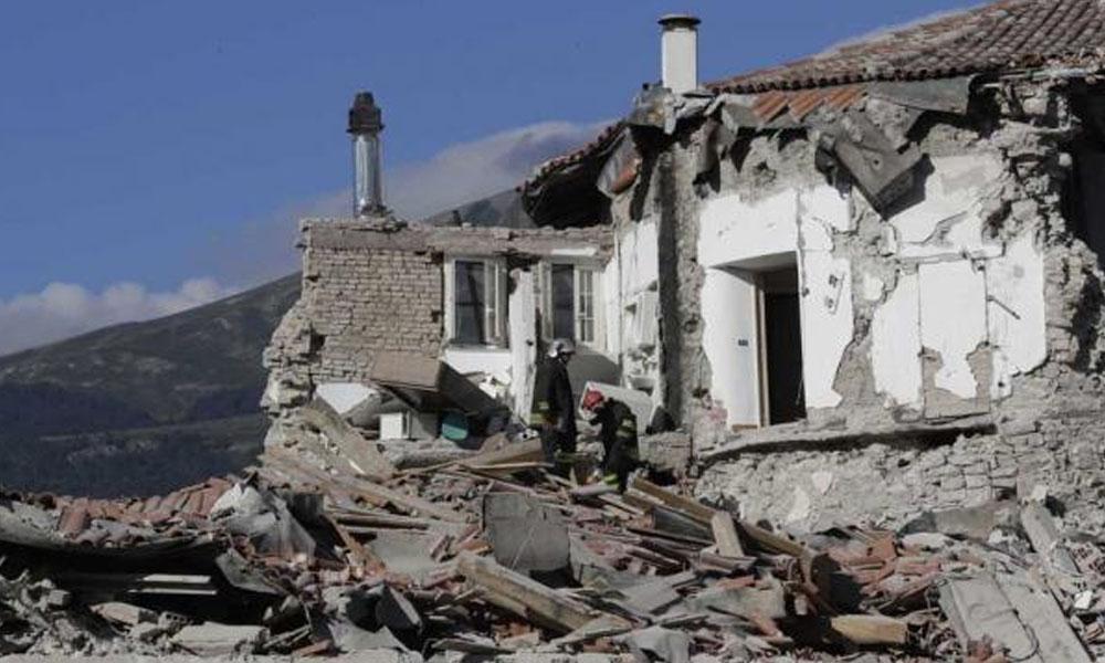 Imagen del terremoto ocurrido el pasado 24 de agosto. El centro de Italia busca recomponerse tras el fuerte terremoto de agosto. //lavoz.com.ar