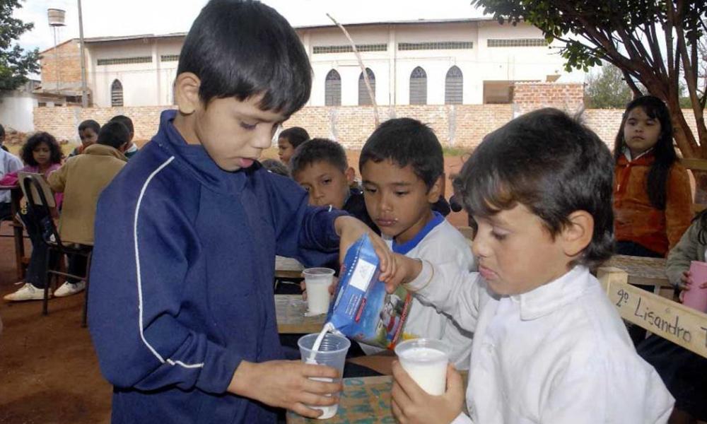 """El programa """"Vaso de leche"""" debe G. 23.000 millones a proveedores. Foto://Abc.com.py."""